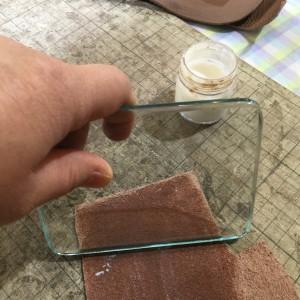 レザークラフト ガラス板