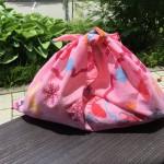 手ぬぐいを真っ直ぐ縫うだけ、簡単バッグの作り方