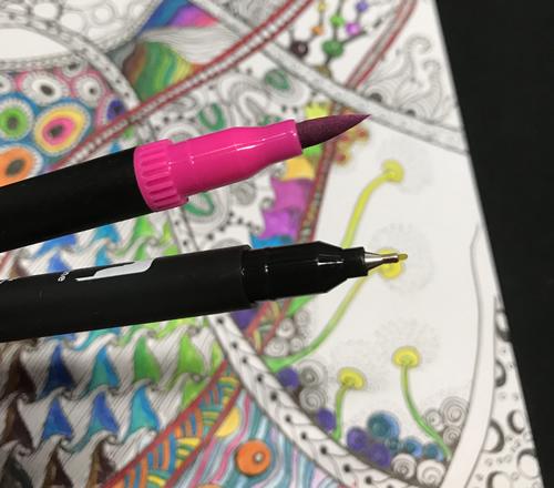 水彩ペン アートマーカーのペン先