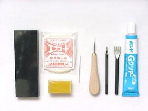 レザークラフト 革の手縫い 道具