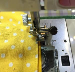 コンシールファスナーをミシンで縫う