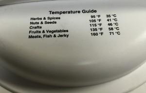 手作りジャーキーの温度設定