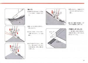三つ折り縫いの説明