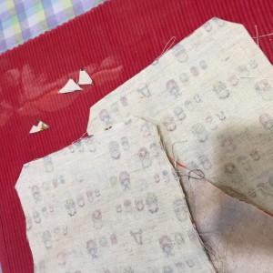 布の端処理 小豆カイロ