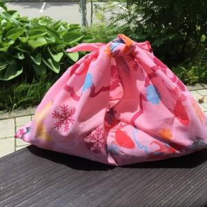 手ぬぐいで簡単バッグの作り方