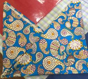 好きな布であずま袋 完成