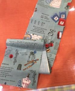 カードケース用布の裁断