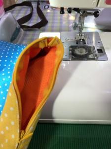 コンシールファスナーを縫ったところ