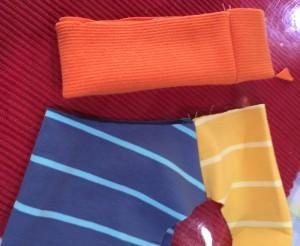 簡単な犬服の作り方 リブの縫い合わせ