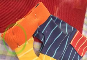 簡単 犬服の作り方 縫い合わせ
