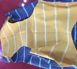 簡単な犬服の作り方 縫い合わせ