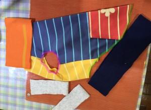 簡単な犬服の作り方 リブのとりつけ