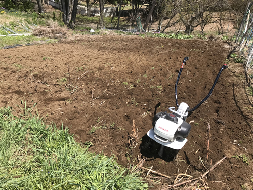 HONDAピアンタで畝を立てる