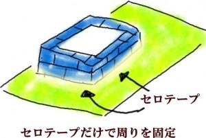 シリコンで型取り 片面のシリコン型を作る