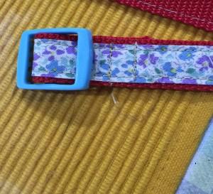 首輪の作り方 コキを通してミシンで縫う