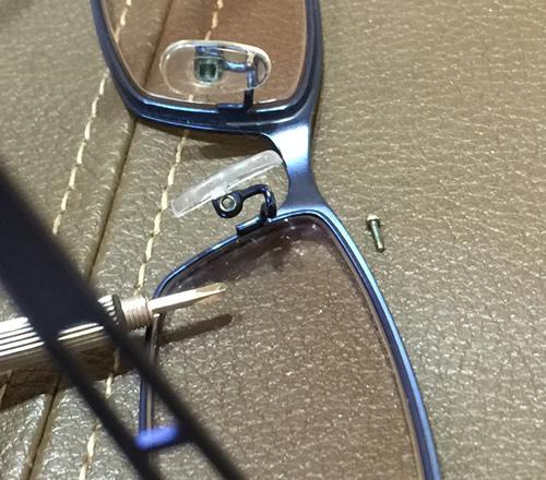 自分でできるんメガネの修理