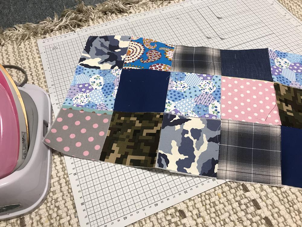 ミシンで縫うパッチワーク