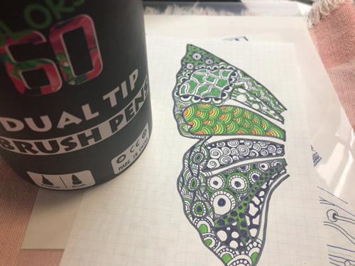 水彩マーカー アートペンを使ってみる