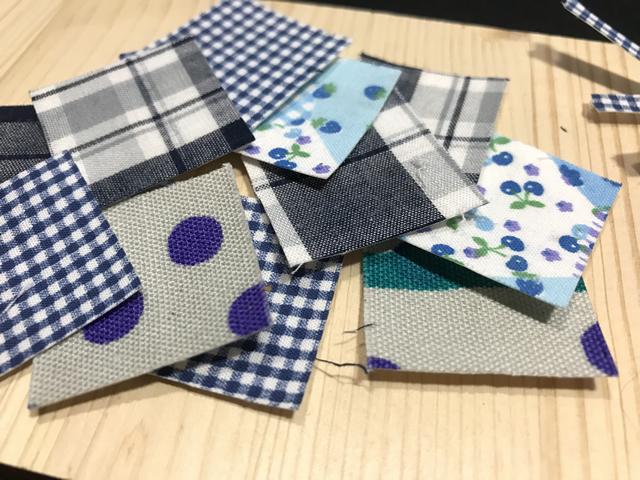 正方形の布シール