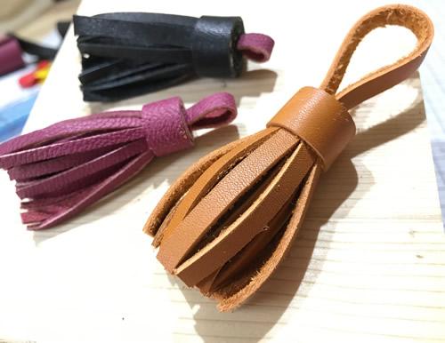 革の手作りタッセル:作り方