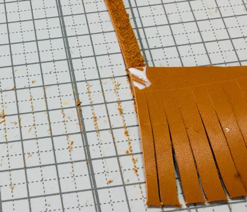革のタッセルの作り方