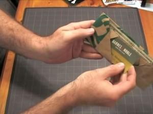 スターバックスの紙袋でお財布を作る