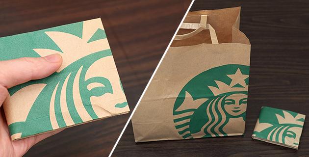 紙袋から財布を作る 折り紙